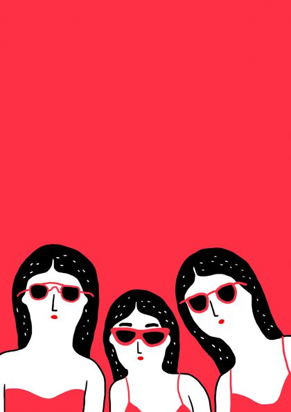 Affiche <br> Agathe Sorlet <br> <I> Team Glasses </I>