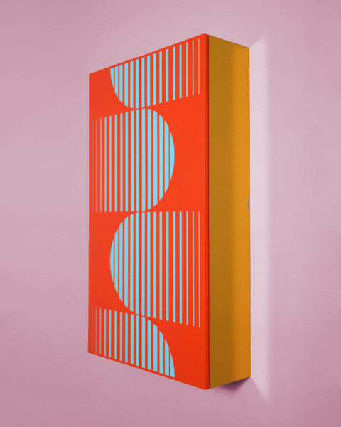 Design forward and beautiful cabinet for your home interior. Colorful and graphic cabinet with a contemporary design. Shipping worldwide. Made to order. Carefully handmade in our atelier. Furniture that adds value to every modern and contemporary home and interior.