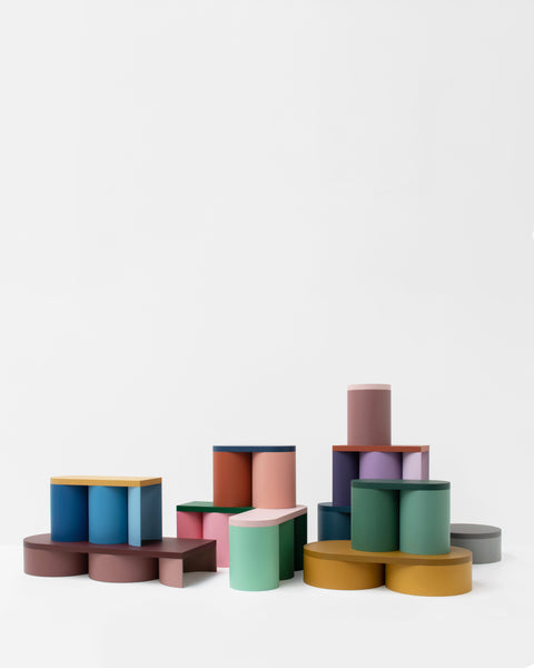 colorful stool contemporary design lacquered wood