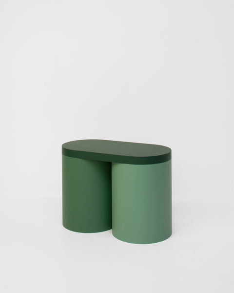 Colorful stool contemporary design lacquered wood green