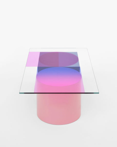 low table COMPOSITION II - blue and pink