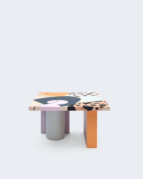 Design forward and beautiful lowtable for your home interior. Nortstudio and Studio Proba have joined forces to create a collection of one-of-a-kind tables that reflect their mutual passions for vibrant color, unique composition, and high-quality craftsmanship. Furniture that adds value to every modern and contemporary home and interior.