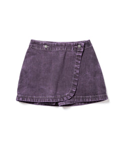 Gray Denim Over Dyed Wrap Skirt (PSP)