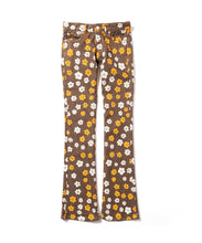 Flower Print Slim Flare Pants