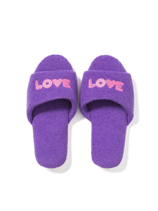Room Shoes LOVE PURPLE