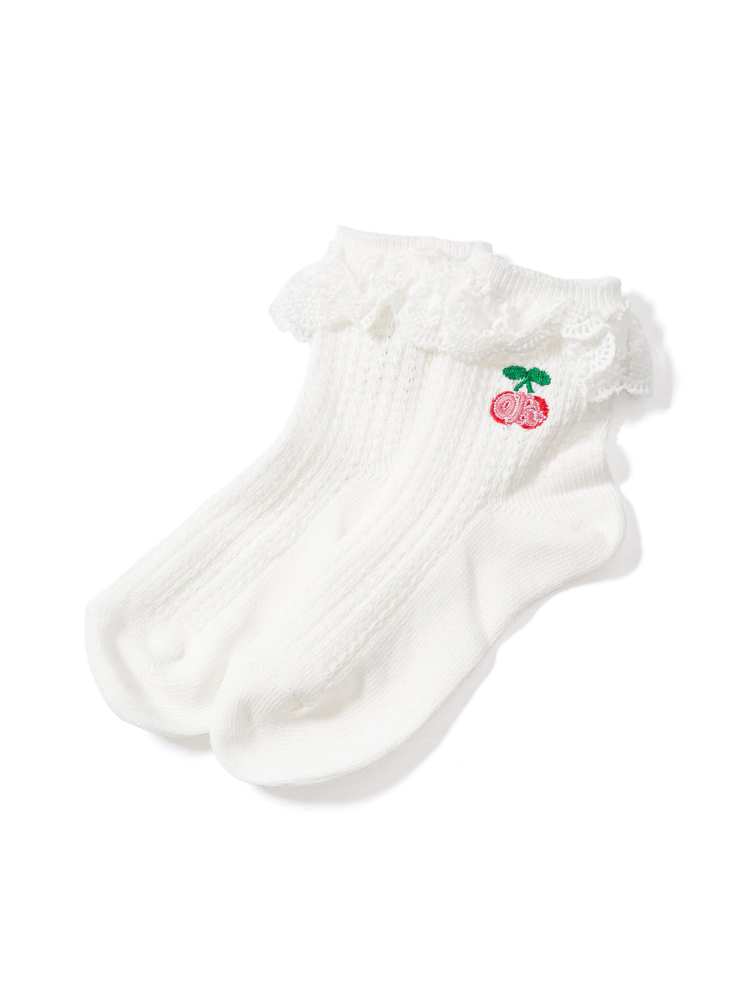 Socks Cherry With Lace