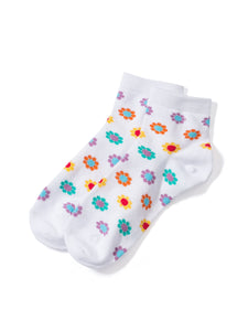 Socks Flower WHITE