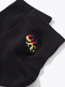Socks OK LOGO Embroidered BLACK