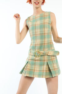 [OK × OC] CHECK DRESS (BEIGE-GREEN PLAID)