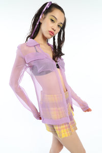 [OK × OC] SEE-THROUGH SHIRT (LILAC)