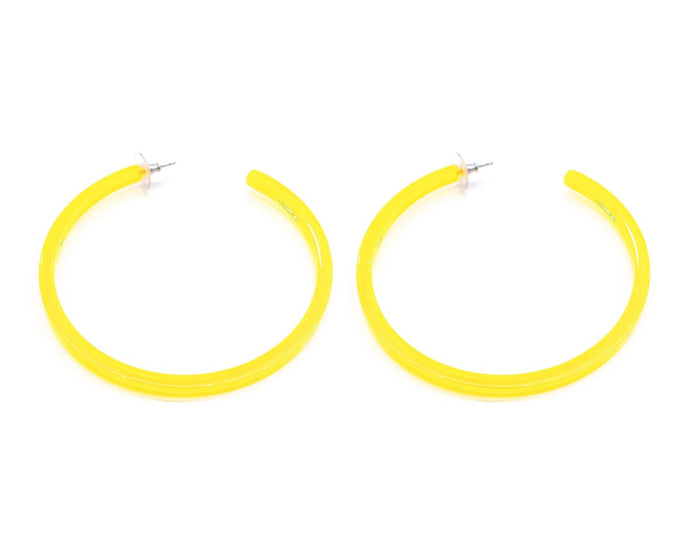 Infinity Hoops (earrings) Yellow