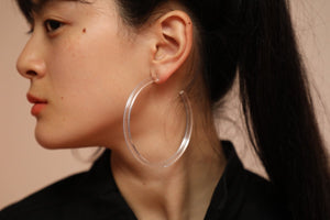 Infinity Hoops (clip earrings) Clear