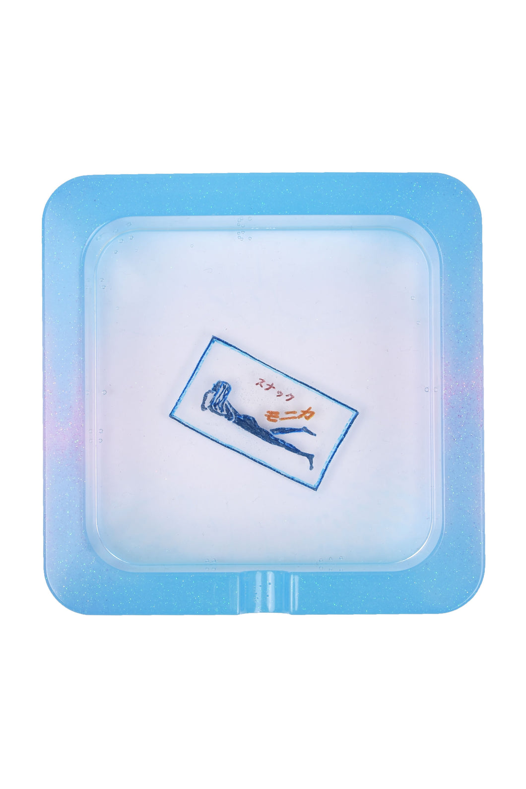 Ashtray Square (Blue/Pink-Monika)