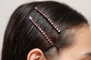 Kira Kira Hairpin Black Light Rose
