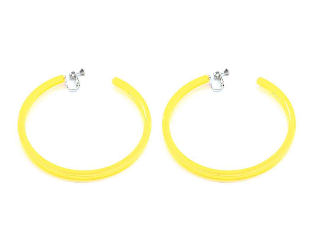 Infinity Hoops (clip earrings) Yellow