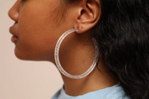 Galaxy Hoops (earrings) Clear