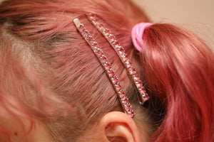 Kira Kira Hairpin Silver Light Rose