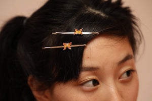Butterfly Hairpin Orange