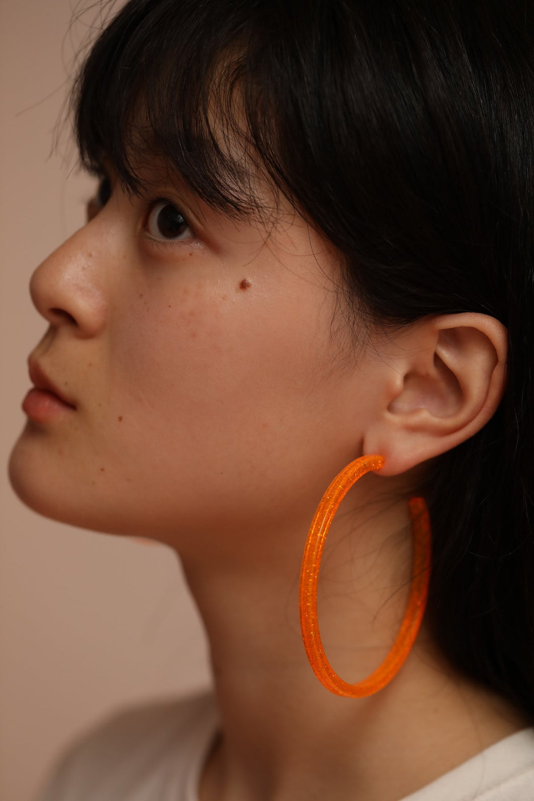 Galaxy Hoops (clip earrings) Orange