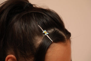 Butterfly Hairpin Light Blue