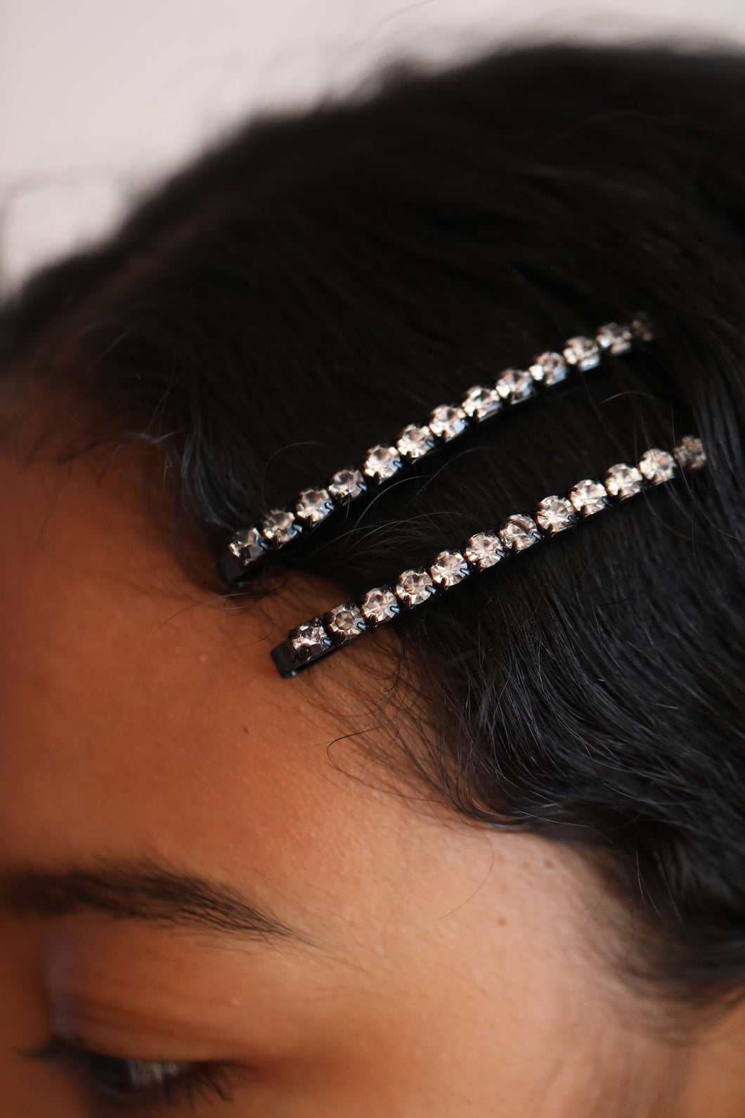 Kira Kira Hairpin Black Crystal
