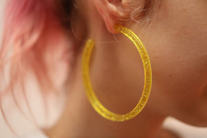 Galaxy Hoops (earrings) Yellow