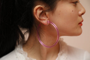 Infinity Hoops (clip earrings) Purple