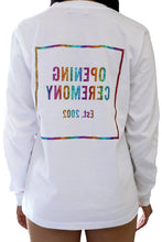 [OK × OC]  RAINBOW FOIL PRINT LONG SLEEVE T-SHIRT (White)
