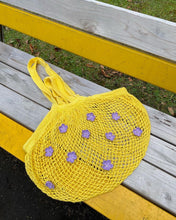 flower net eco bag (Yellow)