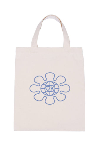 OK space flower mini tote