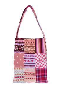 fleece patched tote bag C