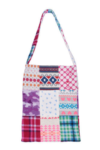fleece patched tote bag D