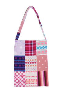fleece patched tote bag E
