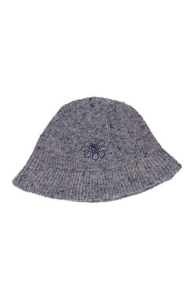 RE knit hat (White Gray × Navy)
