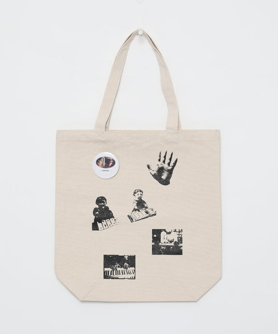 [OK×Hosono Haruomi] Tote bag with button badge (Natural)