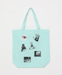 [OK×Hosono Haruomi] Tote bag with button badge (Mint)