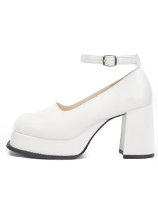 [OK×ESPERANZA] Retro Platform Pumps(WHITE)