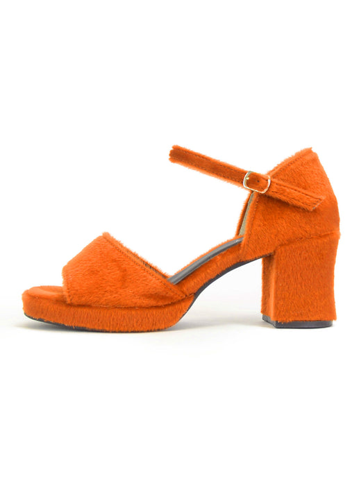 [OK×ESPERANZA] Chunky Heel Sandals (ORANGE)