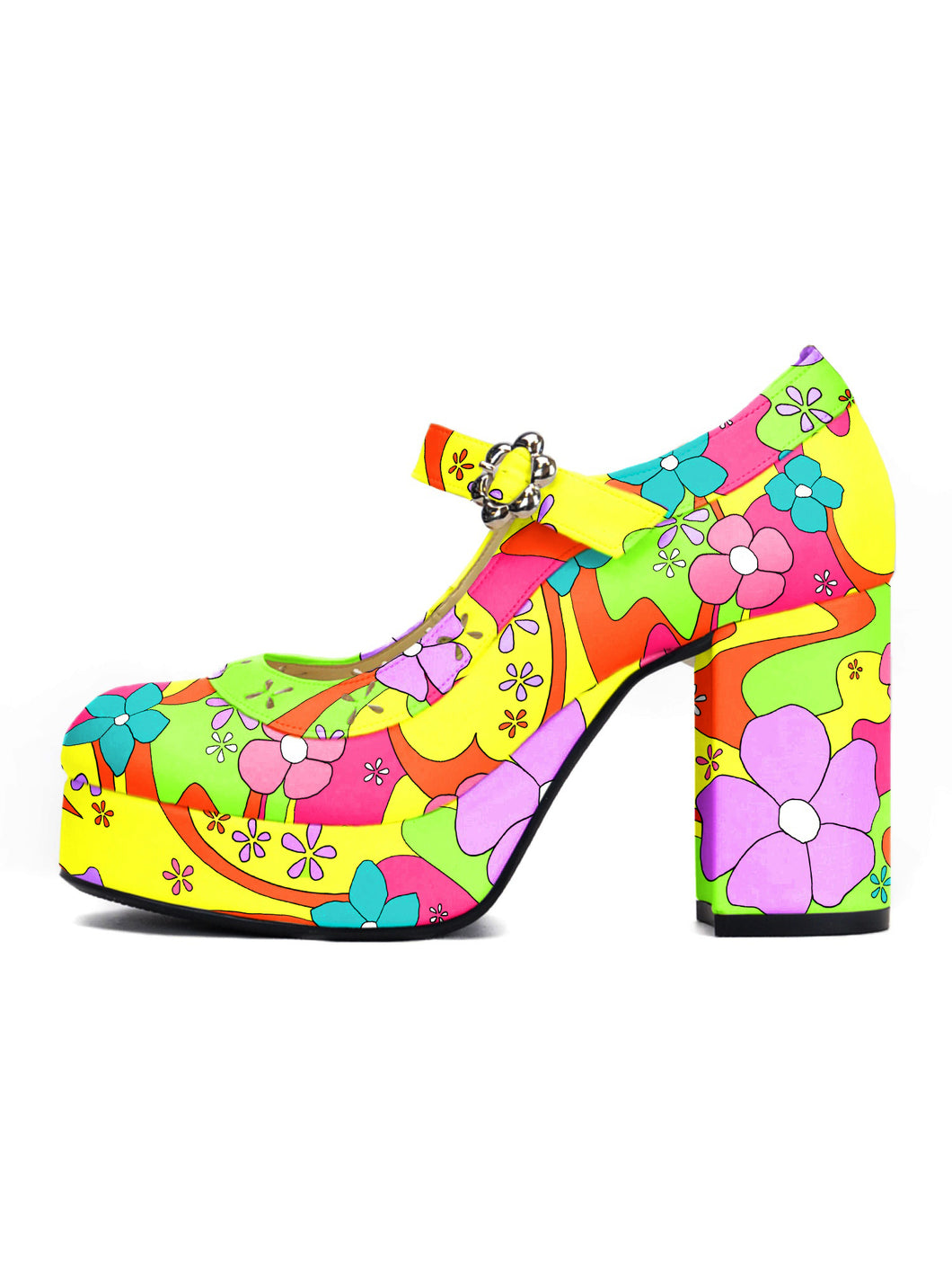 [OK×ESPERANZA] Flower Fantasy Pumps(YELLOW MAGIC)