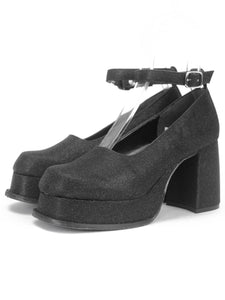 [OK×ESPERANZA] Retro Platform Pumps (BLACK)