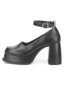 [OK×ESPERANZA] Retro Platform Pumps(BLACK)