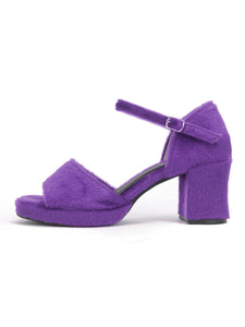 [OK×ESPERANZA] Chunky Heel Sandals (PURPLE)