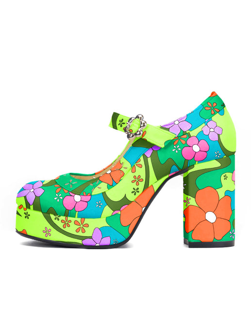 [OK×ESPERANZA] Flower Fantasy Pumps (FOREST BREEZE)