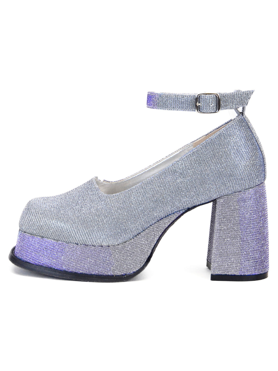 [OK×ESPERANZA] Retro Platform Pumps(DISCO BALL)