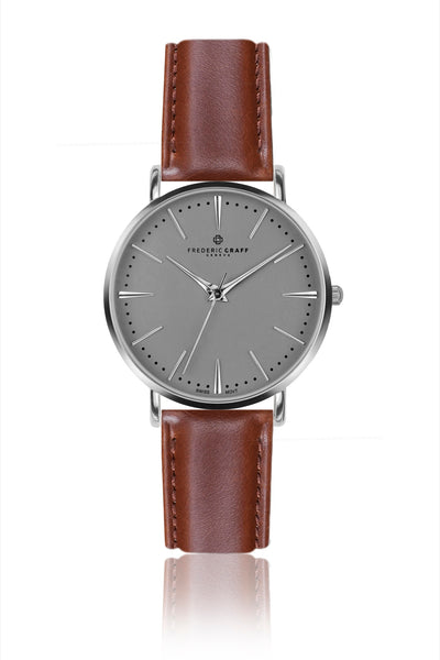 Silver Eiger Cognac Leather