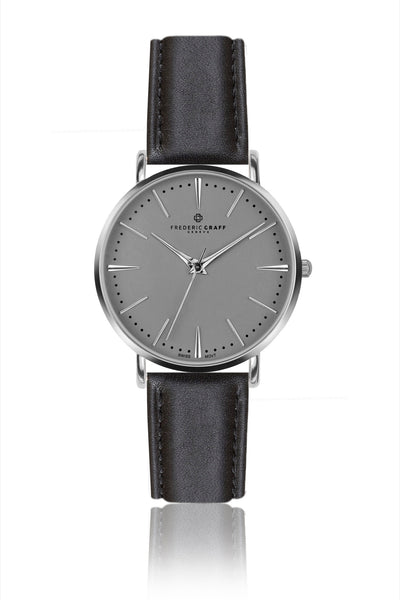 Silver Eiger Black Leather