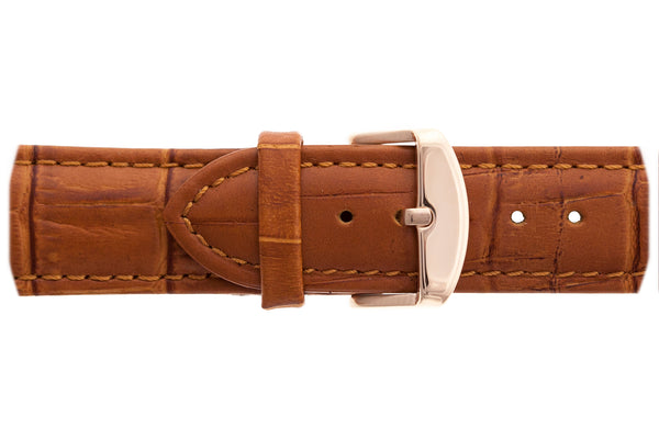 Rose Grunhorn Croco ginger brown Leather