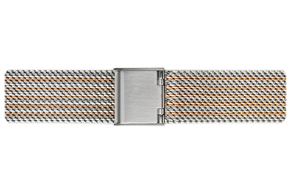 Silver Monte Rosa  2 tone. Steel + Rose Gold Mesh