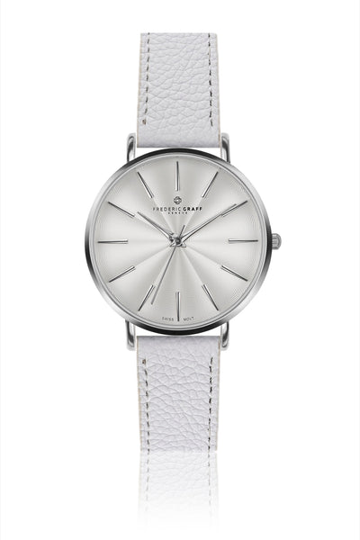 Silver Monte Rosa Lychee white Leather