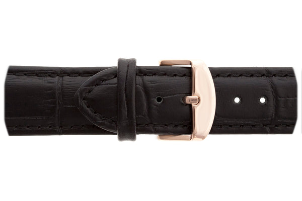 Rose Monch Croco black leather